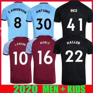 20 21 Futbol Formaları Üçüncü Uzaktan 125th Yıldönümü 2020 2021 United Asil Haller Anderson Lanzini Antonio Erkekler Çocuklar Futbol Gömlek