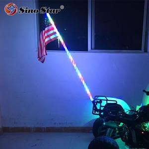 SWL1-4FT 1PCS LED 자동차 액세서리 원격 제어 유연한 RGB 4FT /1.2M 안테나 LED 채찍 조명 ATV UTV에 대 한 도로 오프