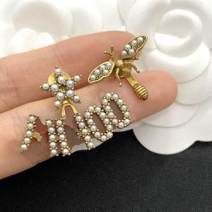 نحلة صغيرة غير متماثلة أقراط المرأة الاسترليني الفضة إبرة 2020 جديد رسال إلكتروني أقراط النحاس
