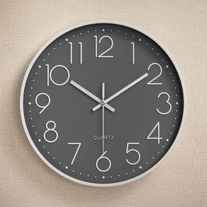 12 Inch Creactive Plastic Wall Clock Digital Scale Quartz Watch for Kids Rooms Bedroom Living Room Hanging Clock Home Decoration