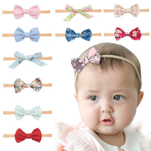 1pc Cute Bow Baby Headband for Girl Nylon Head Bands Turban Newborn Headbands Hairbands for Kids Baby Hair Accessories