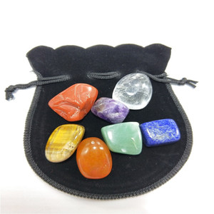 10set Natural Crystal Chakra Stone 7pcs Set Natural Stones Palm Reiki Healing Crystals Gemstones Home Decoration Accessories RRD3159