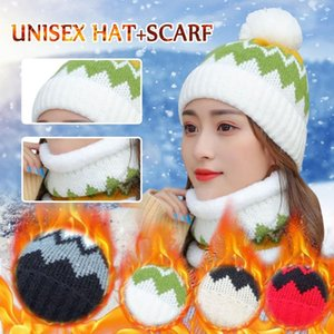 Women's Winter Beanie Caps Knitted Hat Scarf Caps Neck Warmer Winter Hats Fashion Skullies Beanies Cycling Warm Hats For Women