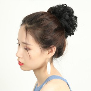 New Arrival Fashion Colors Pom-pom Hair Ball Colorful Extension Artificial Chignons Faux Hairs Style Rubber Band