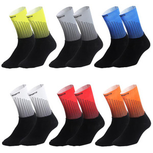 Functional Fabric Cycling Socks Compression Antislip Bike Bicycle Racing Running Breathable Sport Socks for Men and Women