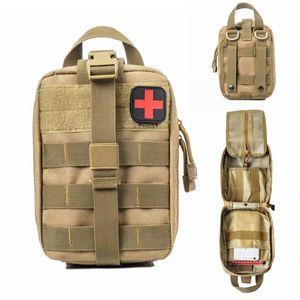 Molle Tactical First Aid Kit de primeiros socorros Saco Exército Outdoor emergência Hunting Car Camping Emergency Survival Ferramenta Militar EDC Pouch Q1116