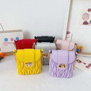 Sacs de qualité gratuits DHL Filles coréennes et moi Enfants enfants Pu SR Spring Purse Fashions Hiver Solide Sac à main Encadleur One-Spother Mo Chxqd