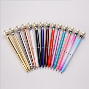 Perle stylo stylo stylo stylo boules de métal stylos diamant stylos mignon créativité cadeau rouge cadeau cadeau personnalisé signature stylos boules de métal boules de point stylo rotation mince