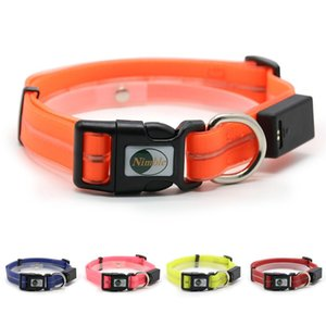 Ninble LED Light Luminous Dog Collar Safety collar USB Magnetic Rechargeable Waterproof Easy Clean Anti-odor Pet Collars Q1122