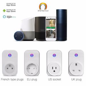 WiFi Smart Plug Home Automatisation Téléphone Application Interrupteur de synchronisation Télécommande 100-240V Prise WiFi travaillant avec Amazon Alexa et Google