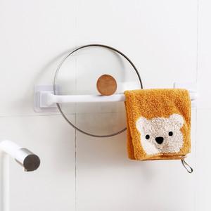 Humedad A prueba de toallas Barras de baño tranquilo Rack de baño 1 Capa Remesa extraíble PP Rails Largo corto negro Blanco 4YHA L2