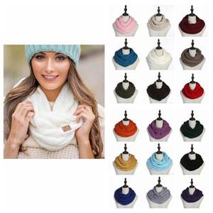 CC inverno sciarpa 35 * 140cm Circle Donne Wrap Loop sciarpe della sciarpa 25 colori Spesso un aumento della temperatura del collo sciarpa grande bambini 20pcs