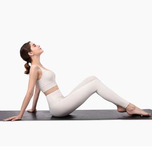 Gymfever Yoga Professional Set Naked-Sent Tissu brossé Fitness Fitness Sports Sports Yoga Leggings Set Femmes Vêtements de yoga blanc Ivoire Y200904