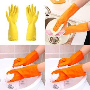 Cuisine chaude Lavage de lavage des plats ménagers à l'eau Lavage de la vaisselle à l'eau Gants en caoutchouc Manches longues en ligne
