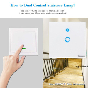 Push Button Wall Light Switch ON Off Touch Switch Panel 433MHz Wireless RF Remote Controller Transmitter For Home Living Room Bedroom