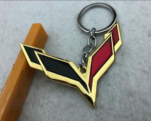 Beliebt für Chevrolet Corvette Keychain, Auto 4S-Shop Kleines Geschenk bevorzugt, personalisierte kreative Metallauto Keychain