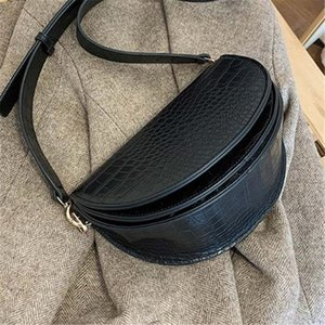 Crocodile Pattern Vintage Leather Crossbody Bags For Women 2021 New Small Purses and Handbags Ladies Shoulder Messenger Bag