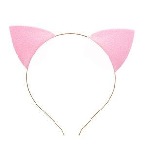 Cat Ears Headband Cute Lovely Glitter Cat Ear Headwear Glitter Hair Bands Headbands Head Hoop Clasps OWE3127