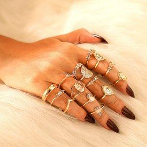 Женщины Diamond Staging Кольца Золотая Рука Корона Кольцо Ювелирных Изделий Наборы Женщин Кольца MIDI Кольцо Мода Ювелирные Изделия будут и Сэнди Подарок