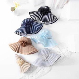 Mingjiebihuo Nueva Moda Franja de Malla Flores Sun Hat Sombrero Sol Sombrero Sombrero Mujeres Gilrs Favorito Lovely1
