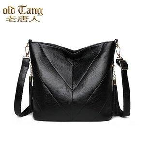Old Tang New Style Fashion Color Sólido PU Cuero Crossbody Designer Bolsos de hombro de oficina para mujer 2021 SAC EPAULE