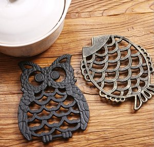 Iron owl insulation pad cast iron meal pot pads cup pads bowl pad plate pad anti scalding high temperature resistant