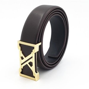New Men's Genuine Leather Belts Famous Gold Buckle Belts for Men All-match Leisure Jeans Waist Strap Band