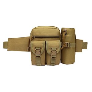 Outdoor Waist Pack Waterproof Oxford Molle Camping Hiking Pouch Kettle Bag