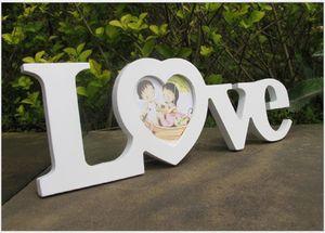 الحب إطار الصورة الأبيض الأحمر شكل قلب الصورة حامل المنزل الديكور هدية عيد الحب EEF3547