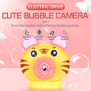 HOT Bubble Camera Cartoon Animals Bubble Toy For Children With Dynamic Music And Colorful Light Baby Toy