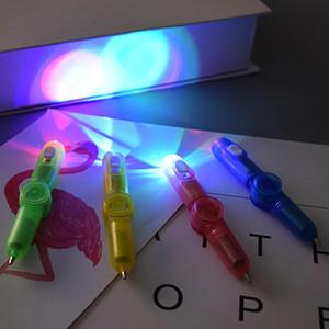 مثيرة للاهتمام لعبة الإصبع الدورية سبينر الدوران لعبة القلم الصمام مضيئة الدوران القلم مكتب adhd edc مكافحة الإجهاد الحركية مكتب لعبة