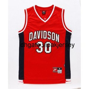 Barato Steph Curry 30 Davidson College Wildcat Basquetebol Jersey Mens Colete Stitchball Jerseys