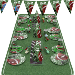 2020 New American Football party holiday decorations Pennant paper plate paper cup paper towel party tableware tablecloth straw