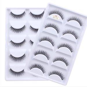 5 Pairs Multipack 3D Mink Lashes False Eyelashes Handmade Wispy Fluffy Fake Lash Natural Eye Makeup Tools Faux Eye Lashes H13
