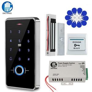 Kit de contrôle de contrôle d'accès à la porte d'empreintes digitales IP68 imperméable à l'imperméable à l'extérieur RFID Control Keypad + Source de frappe magnétique électrique1