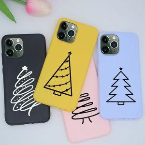 Árbol de Navidad de colores para el iPhone 6 Plus 6S 7 8 X XR XS MAX 11 PRO Teléfono Cubiertas TPU de silicona para iPhoneX