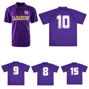 1989 1990 Fiorentina Ретро Футбол Джерси 88 89 Roberto Baggio Dunga Battistini Buso Pin Vintage Классическая футболка