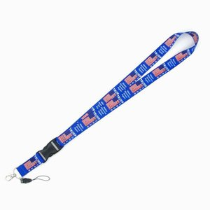 Trump Phone Lanyard US Flag Cellphone Strap Work Card Necklace Strings Keychain America General Election Supplies HHE2855