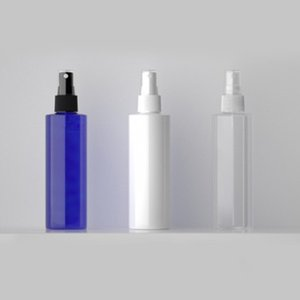 30pcs 200ml clear white blue Perfume spray bottle empty fine mist PET bottles container with pump cosmetic