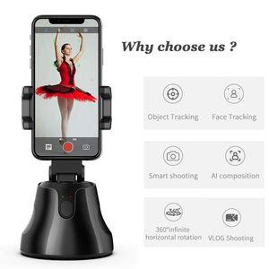 Selfie Selfie Selfie, 360 Rotation Auto Face Tracking Tracking Vlog Caméra Titulaire de téléphone LJ200916