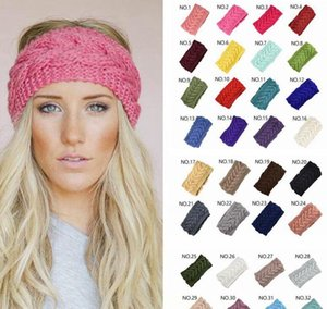 32Colors Knit Hair Band Fashion Crochet Headband Winter Warm Wool Crochet Hairband Girls Headwrap Scarf Turban Bandanas Gga3613 Xfbgq