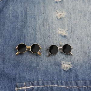 Mini Sunglasses Enamel Pins Cartoon Mini Glasses Badges Custom Brooches Bag Men Shirt Clothes Lapel Pin Punk Cool Sunglasse Jewelry Gift