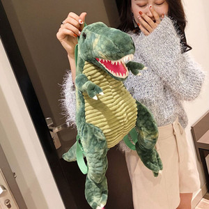 Creative 3D Dinosaur Baby Backpack Cute Animal Cartoon Plush Toy Travel Backpack Children's Tyrannosaurus Backpack Girls Christmas Gifts