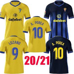 2020 2021 Cadiz Soccer Jersey Cadiz CF Camisetas de Futbol 2021 Lozano Alex Bodiger Juan Cala Camiseta A Tiga Men Football Shirts