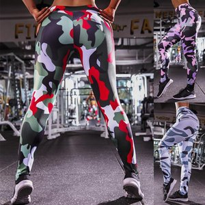 Europe and America Style Pants Camouflage Skinny Leggings Fashion Workout Clothing Running Pants 2020 Women Casual Fashion