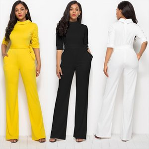 Women oversize 3XL bandage lace up o neck jumpsuit Casual Rompers for female women 2018 autumn new high waist jumpsuits women