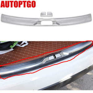 Stainless Steel Car Rear Guard Protective Plate Cover Kit For Maserati Levante Rear Trunk Tail Boot Door