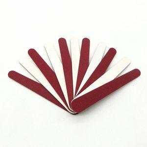 Nail File Disposable Wood Board Sand Bar Red and White Mini Veneer File 7.6cm Polished Sand Bar Nail File