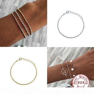 100% 925 Sterling Silver Anklets For Women Crochet Sandals Vintage Sandals Pendant Anklet Bracelet Foot Chain Jewelry