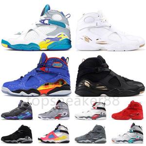 Moda Jumpman 8 8s Zapatos de baloncesto para hombre Doernbechher White Water Black Ovo Sports Shoes Playoff Chrome Cool Gris Gris Tres Color Turba